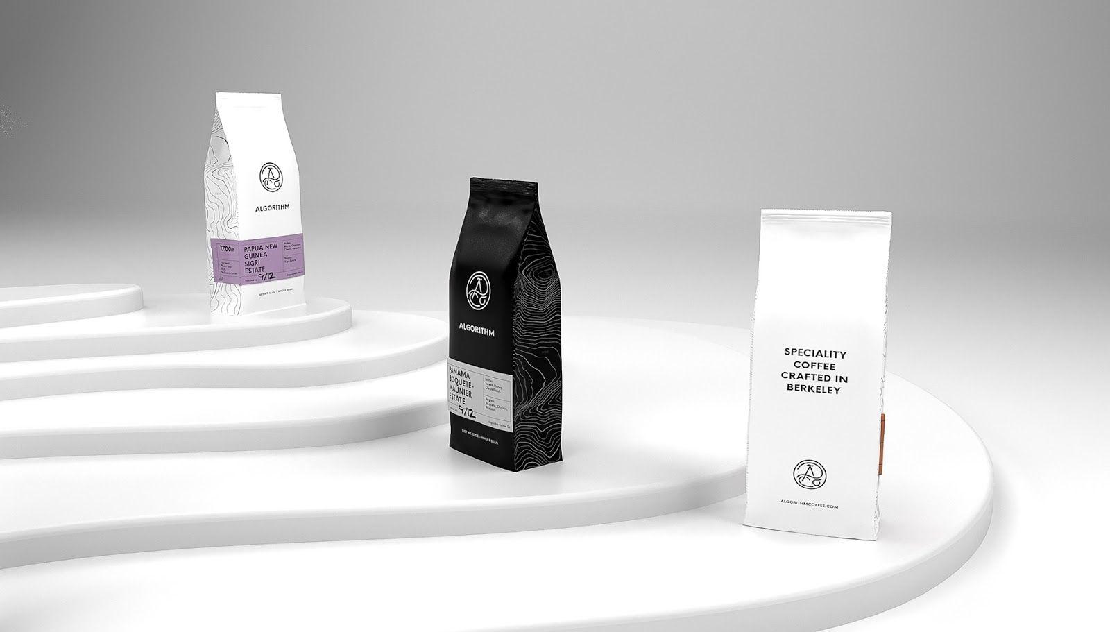 Algorithm Coffee Co Branding design packaging, Packaging