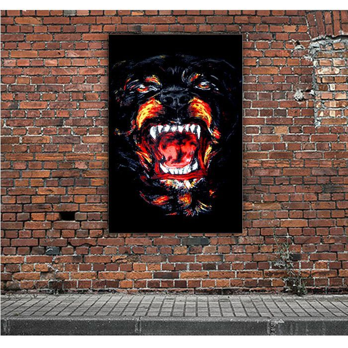 ANGRY ROTTWEILER ARTWORK POSTERS