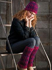 Ravelry: Lerwick Legwarmers and Skullcap pattern by Amy Polcyn