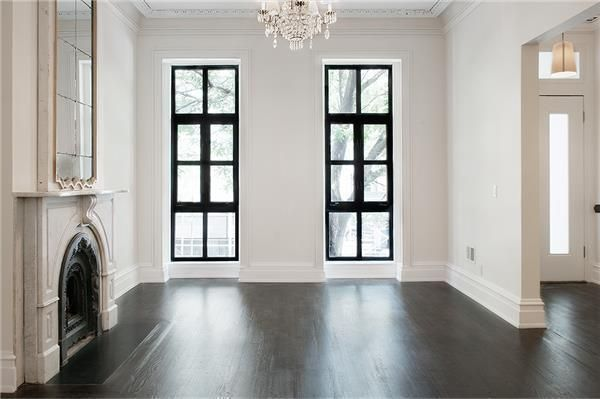 Townhouse Rowhouse Brownstone Parlor Floor Dark Wood Floors