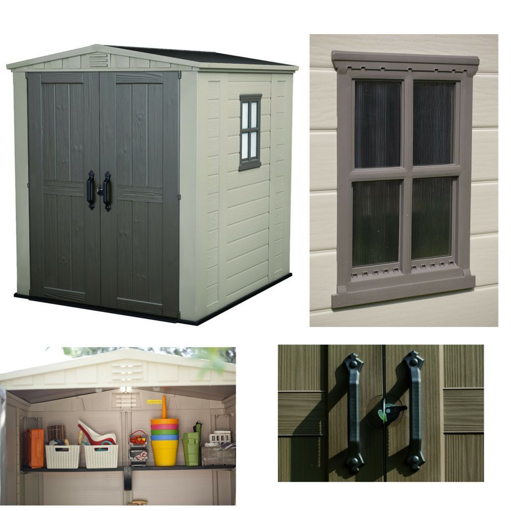Outdoor Storage Garden Shed Waterproof Lockable Sheds Resin Steel