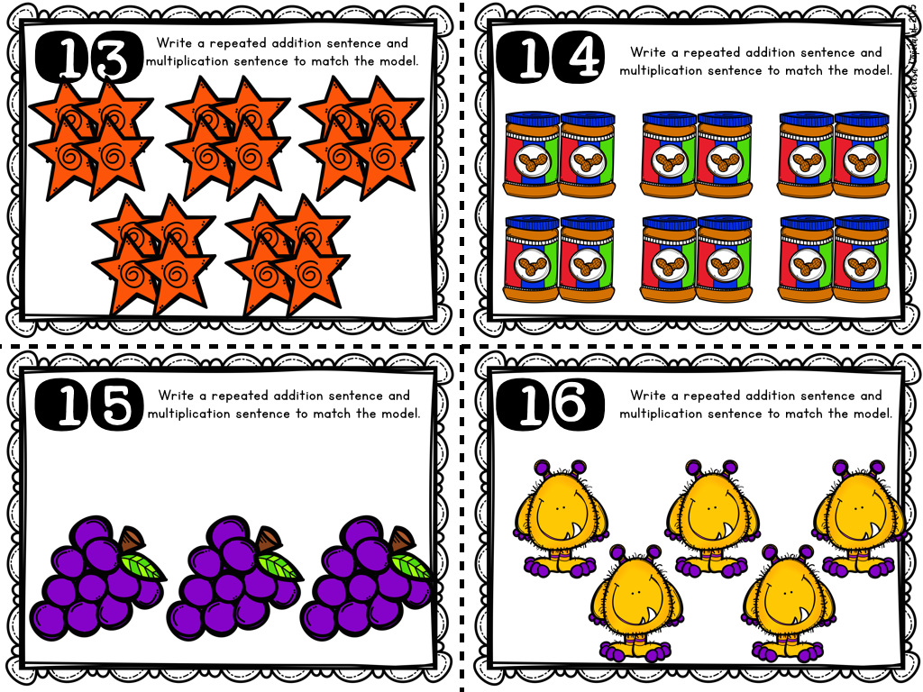 Skip Counting Repeated Addition Arrays Multiplication