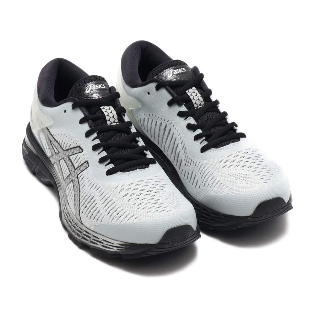 Fashion Asics Gel Kayano 25 Men S Glacier Grey Black Running Shoes Multiple Sizes Black Running Shoes Shoes Running Shoes