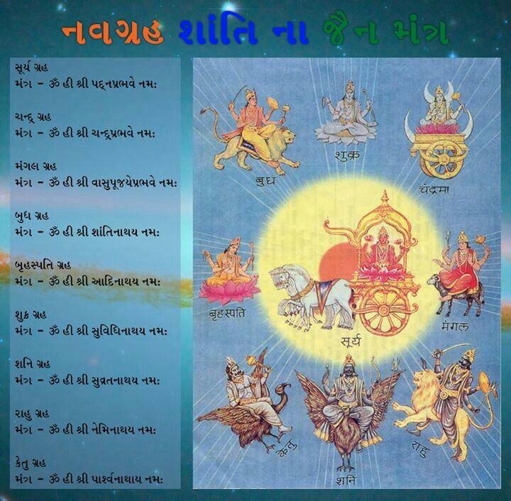 Navgrah Shanti Na Jain Mantra Jainism Sanskrit Religion Faith
