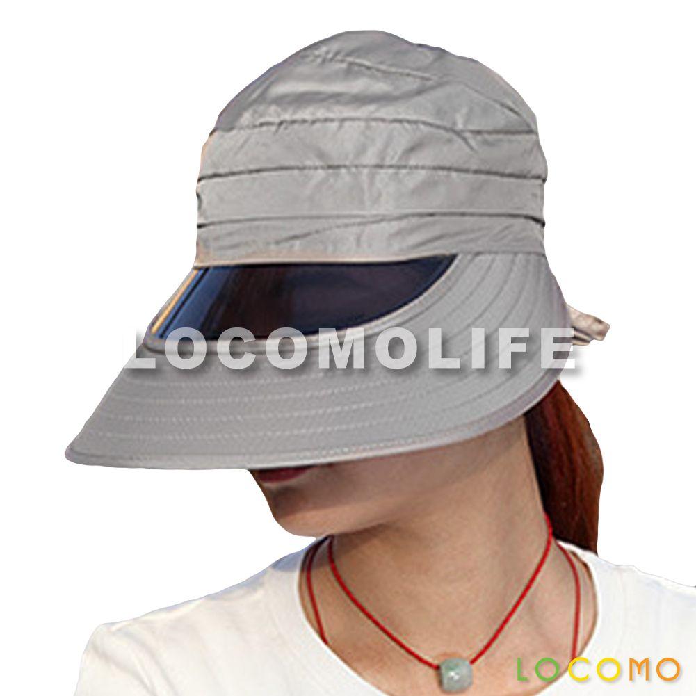 77f9de7a2c176 Women Open Top Transparent Plastic Sunglasses Visor Cap Gray ...