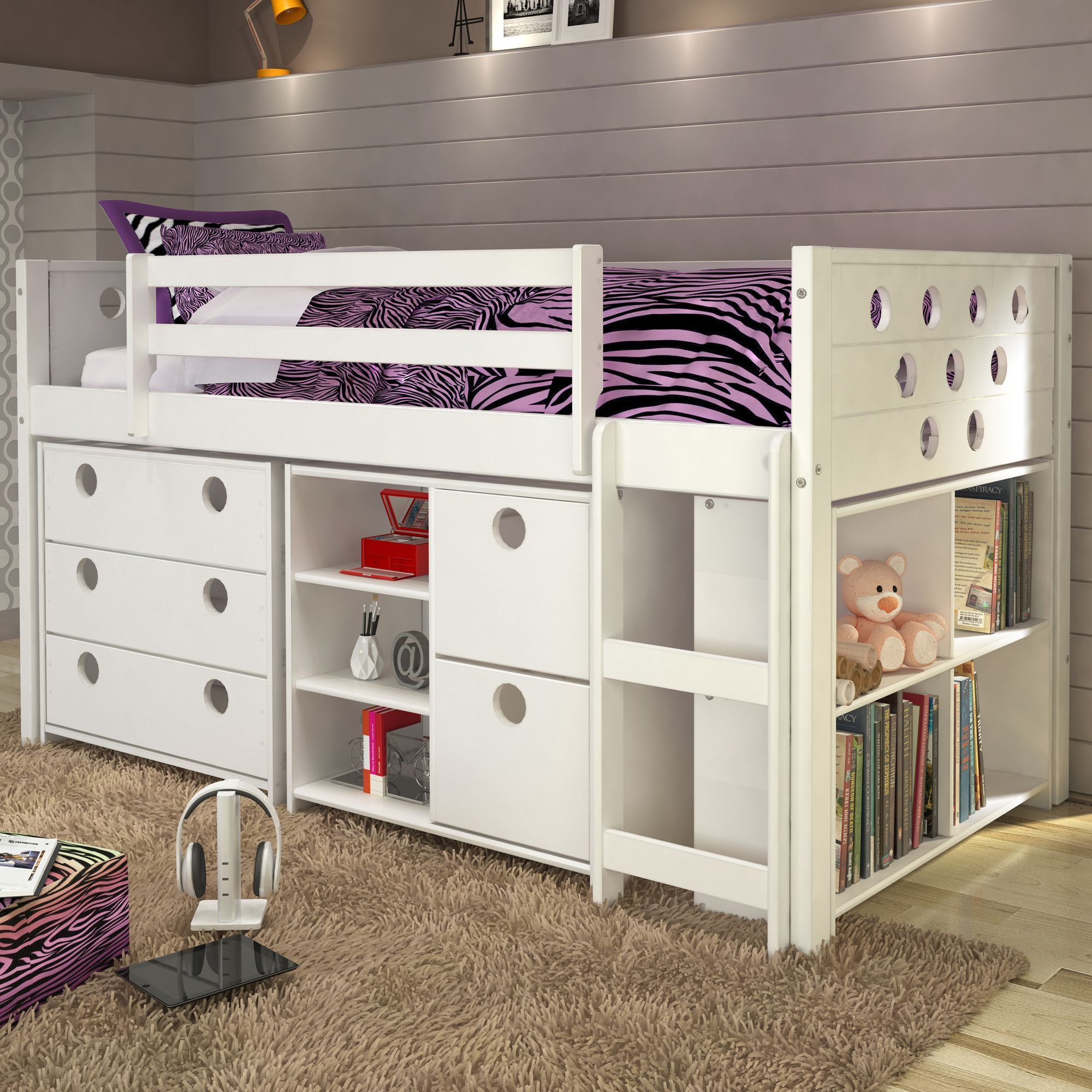 Loft captains bed twin  Shop Wayfair for A Zillion Things Home across all styles and budgets