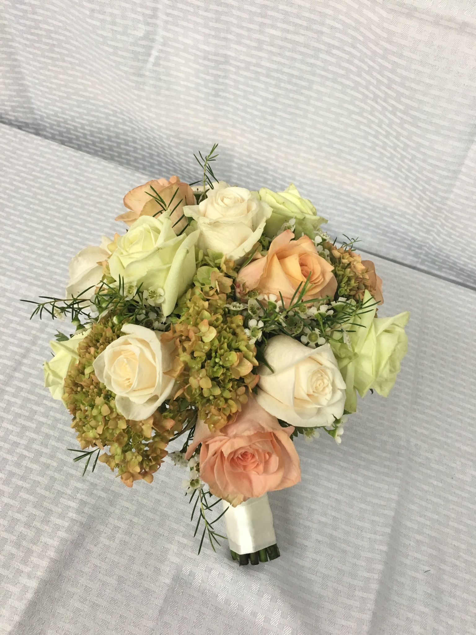 This beautiful mock handtied bridal bouquet is perfect for a ...