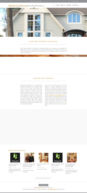 WordPress site sellarslathrop.com uses the Architect Marketing Group ...