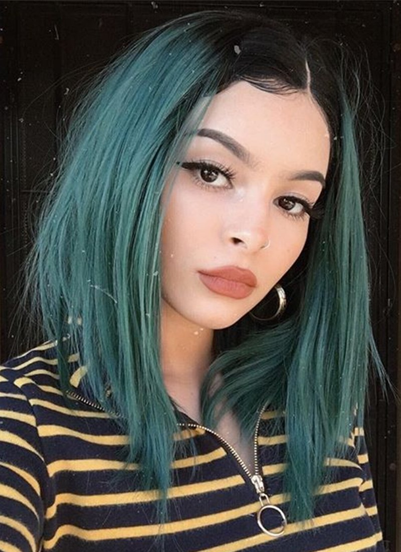 Light Green Hair With Dark Roots Hair Color Pastel Pastel Green Hair Green Hair