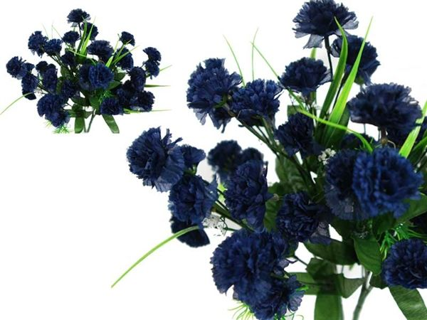 252 Carnation Flowers Navy Blue