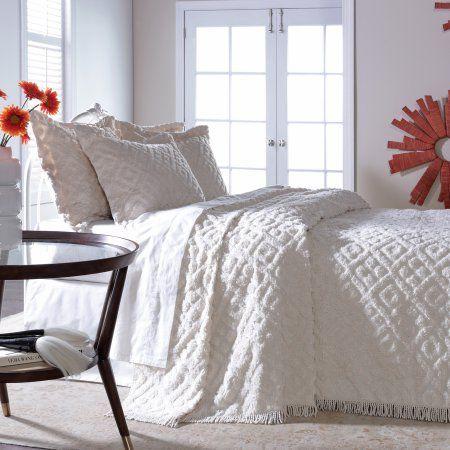 Belle Maison Diamond Tufted Chenille Bedspread Walmart Com Bed