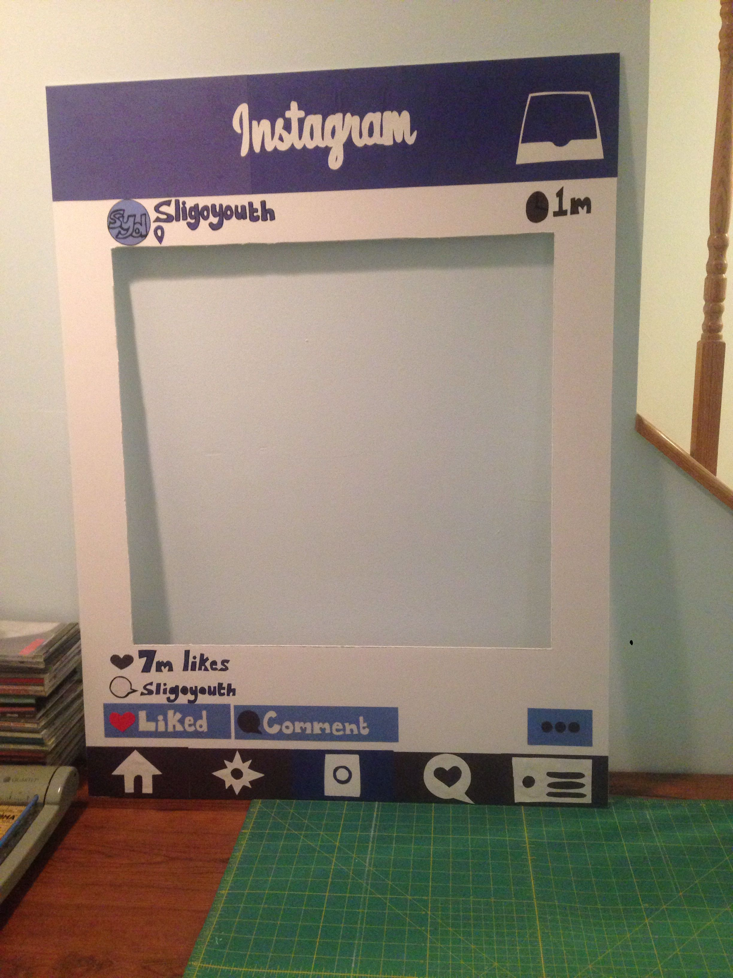 Homemade Instagram Photobooth Cut Out Great Diy For Marketing