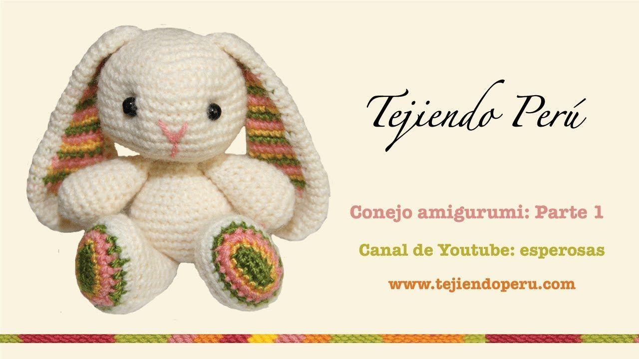 Conejo amigurumi (Parte 1: tejiendo el cuerpo y la cabeza ...