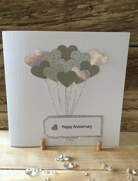 Handmade Anniversary Card Anniversary Wife Husband Anniversary Cards Handmade Wedding Cards Handmade Cricut Anniversary Card