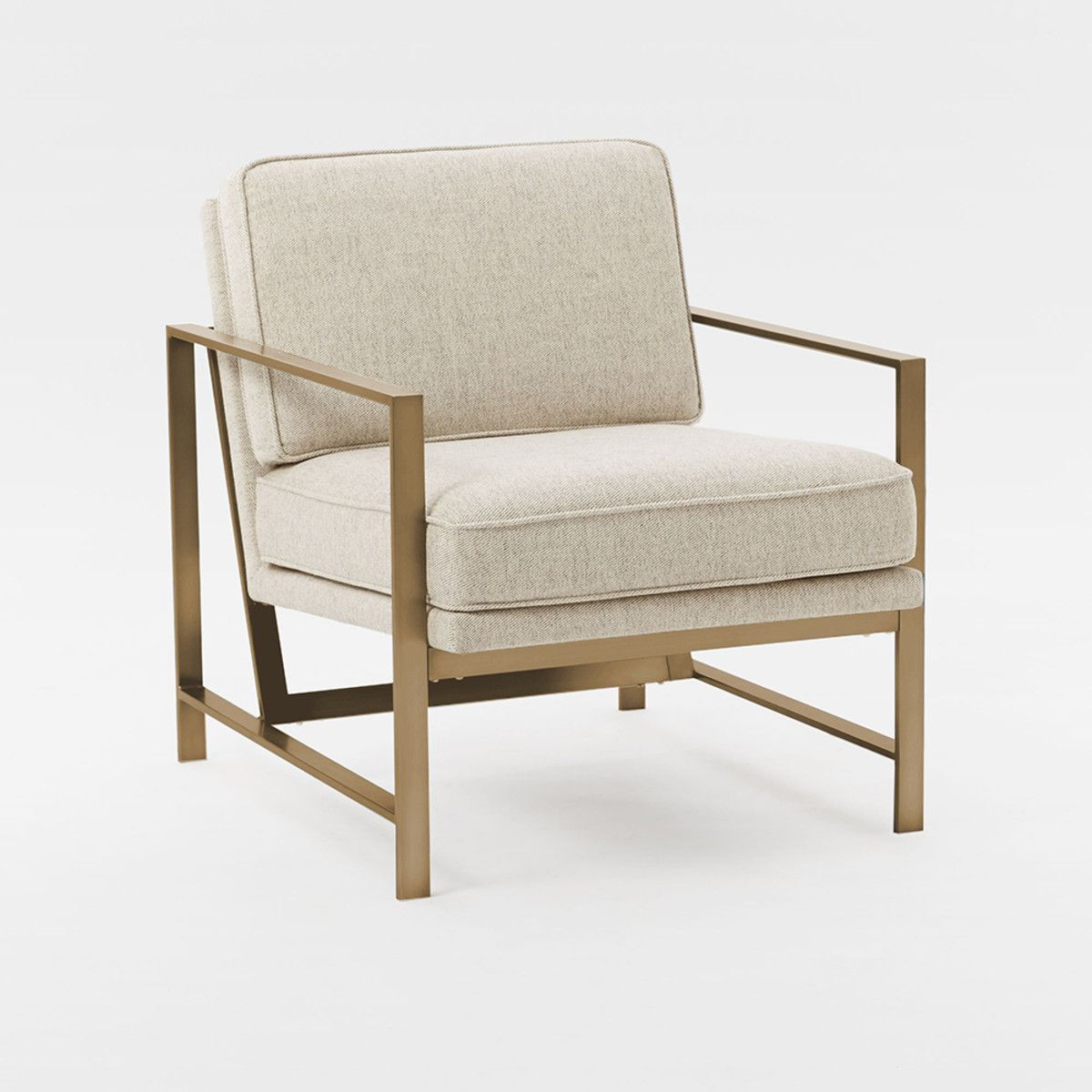 West Elm Chairs: West Elm - Metal Frame Upholstered Chair - Stone