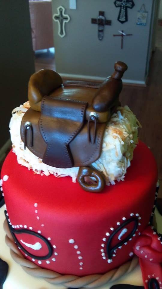 Saddle Cake Topper Saddle Made With Brown Modeling Fondant