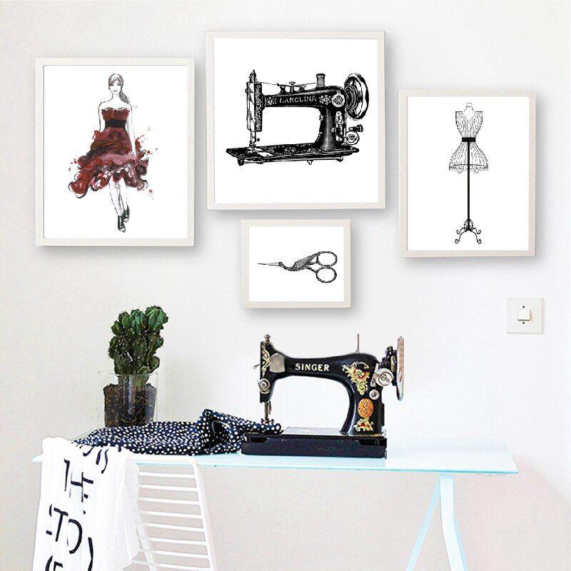 Cheap Pintura Y Caligrafía Buy Directly From China Suppliers Costura Impresión De Moda Arte De Par Arte De Pared Decoracion Paredes Cuadros Decoración De Unas