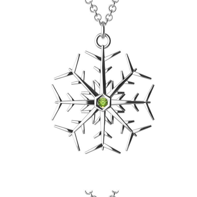 Personalised Jewellery | SnowFlake Gem Necklace