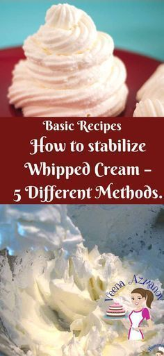 We all need that whipped cream dessert to look just as nice tomorrow as it does today, Right? I'll show you Five different ways to Stabilize whipped cream so you can makes sure your cakes, cupcakes and desserts look fresh longer. #creamfrosting