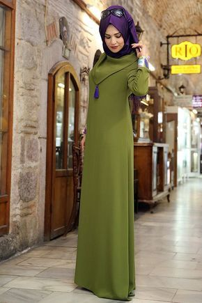 dcb3cac9ef57e Renklerevi Tesettür Giyim ~ Nilüfer Kamacıoğlu Tesettür Yeşil Abaya Elbise  | güzel.şeyle e. | Pinterest | Giyim, Elbise modelleri ve Yerler