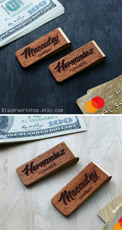 e40158fe90f0 personalized money clip costom slim wallet card wallet cardholder card  holder card case minimalist wallet best