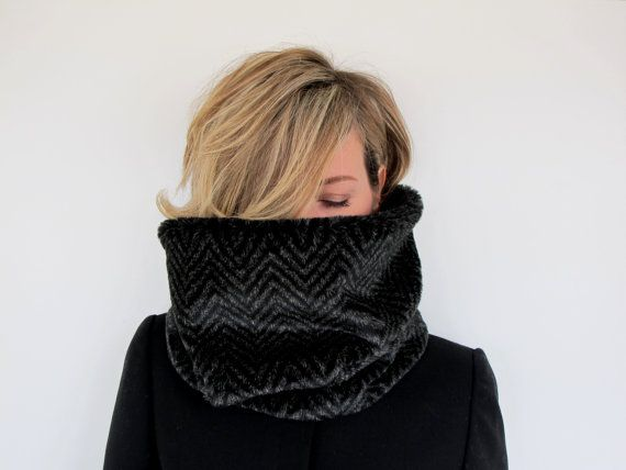 Scarf Cowl NeckwarmerSnood with herringbone super by 33Accessories, €32.00