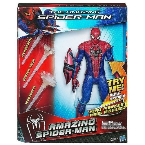 """10/"""" Marvel Amazing Spider-Man Talking Figure with Lights /& Sounds 2012 Hasbro"""