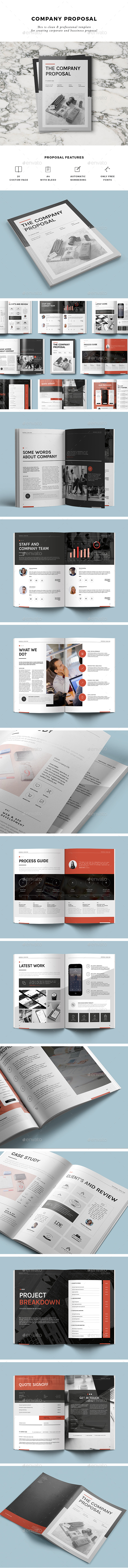 Presentation templates Proposal Brochure template Proposals