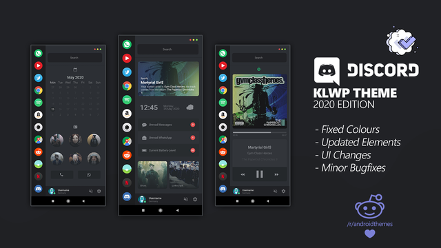 [Theme] Discord KLWPTheme (3 Pages) 2020 Edition