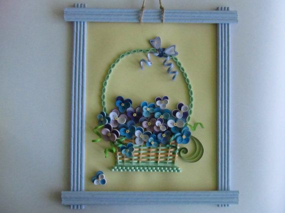 Hey, I found this really awesome Etsy listing at https://www.etsy.com/listing/232228912/wall-decor-basket-with-violets-quilling
