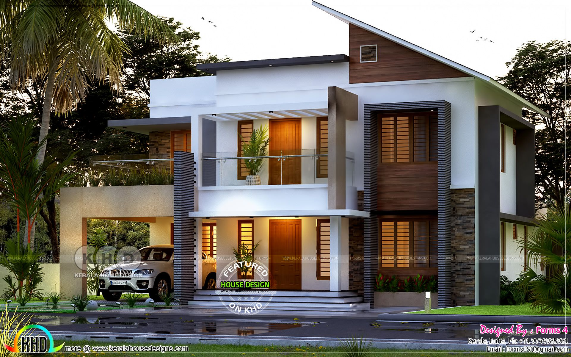 4 Bhk 50 000 Estimated Cost Home Plan Kerala House Design House Roof Design House Front Design