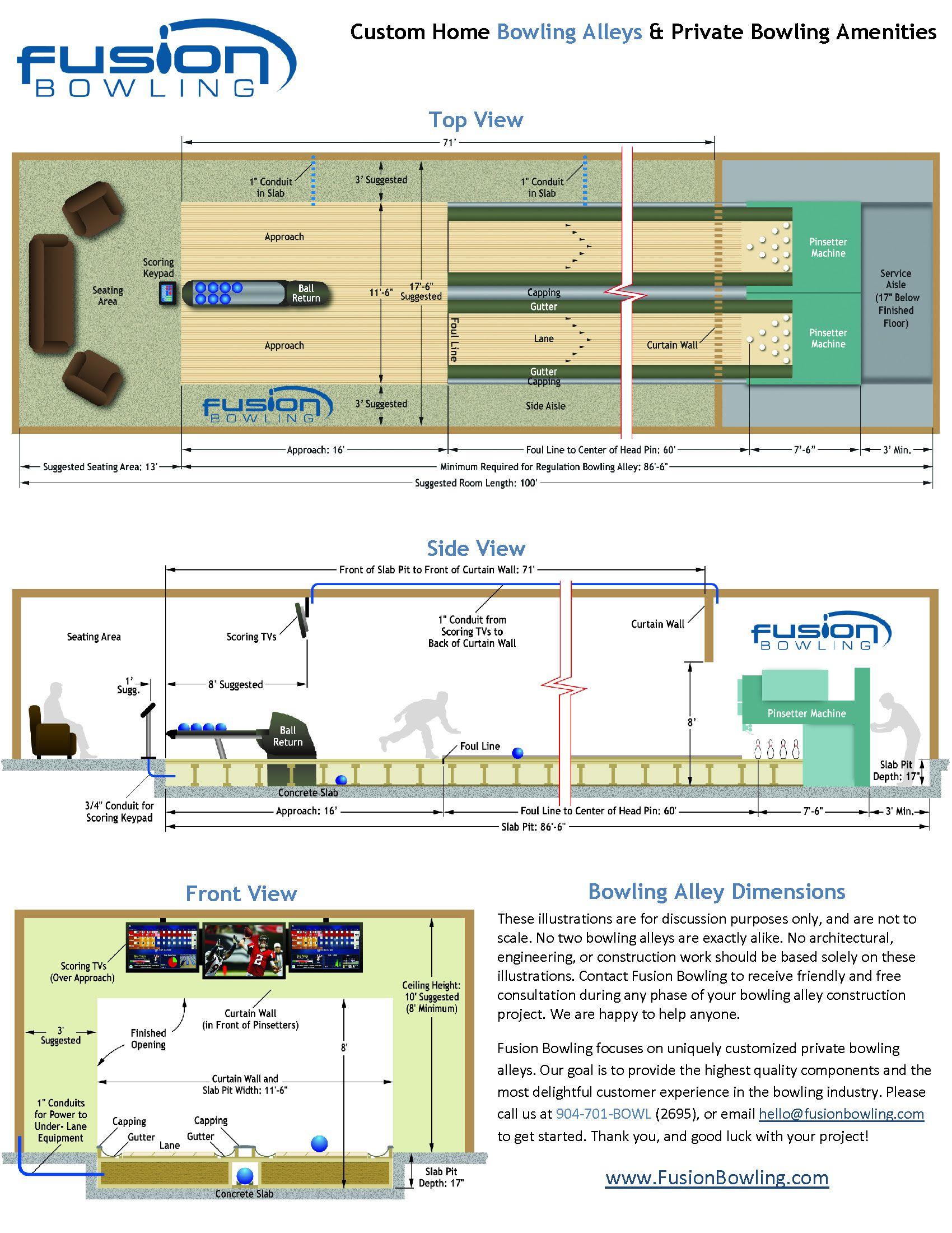 How long is a bowling alley? Bowling Alley Lane Dimensions