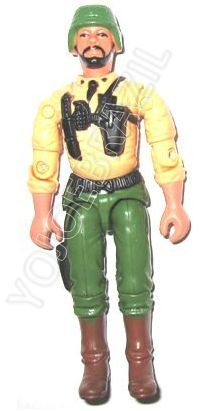 Descrição:  O Piloto do Courax (Coronel Coragem) foi lançado no Brasil em 1995 (Série 12) pela companhia de Brinquedos Estrela, a figura corresponde ao modelo swivel arm (com movimento nos cotovelos). Trata-se da versão nacional do Strategic Commander [Colonel Courage]  fabricado em 1993 pela Hasbro pela série G.I. JOE.
