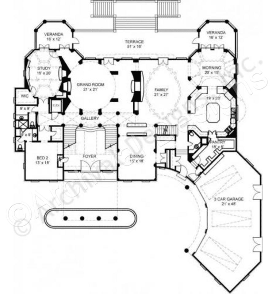 Villa Cornaro House Plan First Floor Plan Luxuryhouses Mansion Floor Plan Cabin Floor Plans Log Cabin Floor Plans