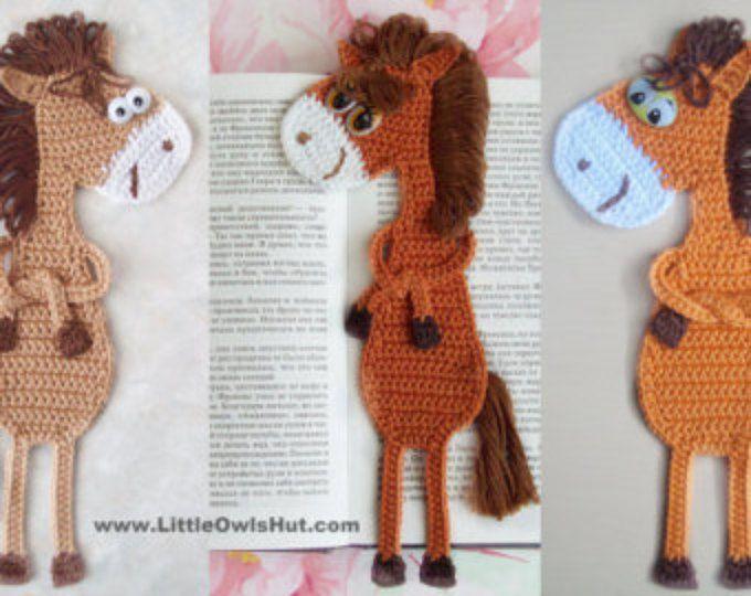 025 Horse Ge Ge Bookmark Amigurumi Crochet Pattern Christmas