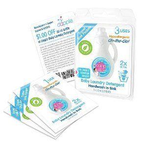 Amazon Com Dapple Baby Laundry Detergent Travel Sink Packets 3
