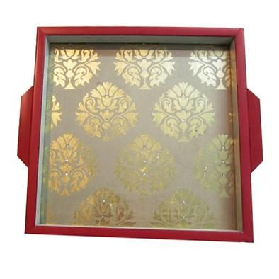 Brocade Home Decor Decoration red framed gold brocade serving tray  folkbridge | buy gifts
