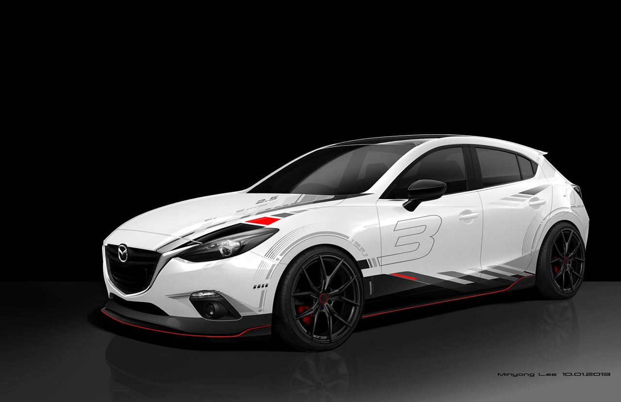 Sema mazda3 club sport rumor is there s a mazdaspeed 3 coming in