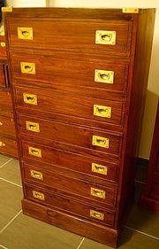 semainier de marine en teck commode la timonerie antiquit s de marine campaign furnitures. Black Bedroom Furniture Sets. Home Design Ideas