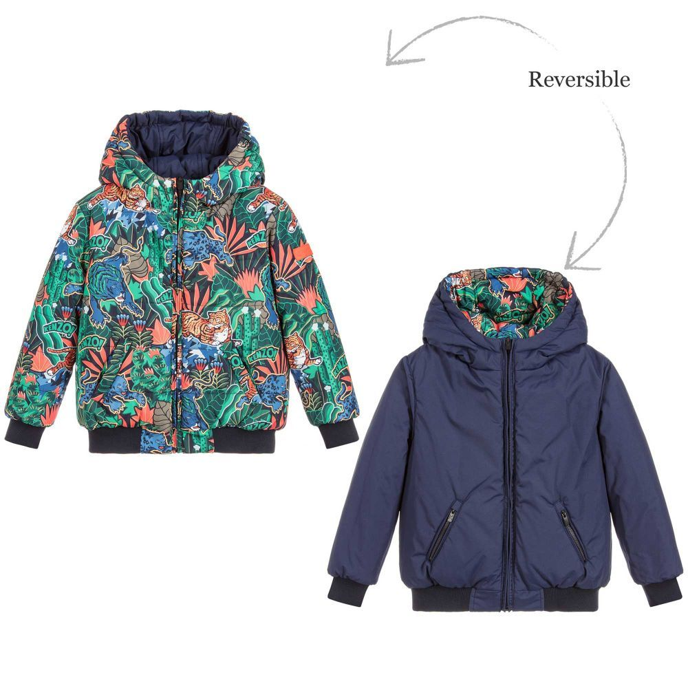 aceb93d8bf63 Boys Padded Reversible Jacket for Boy by Kenzo Kids. Discover the latest  designer Coats   Jackets for kids online