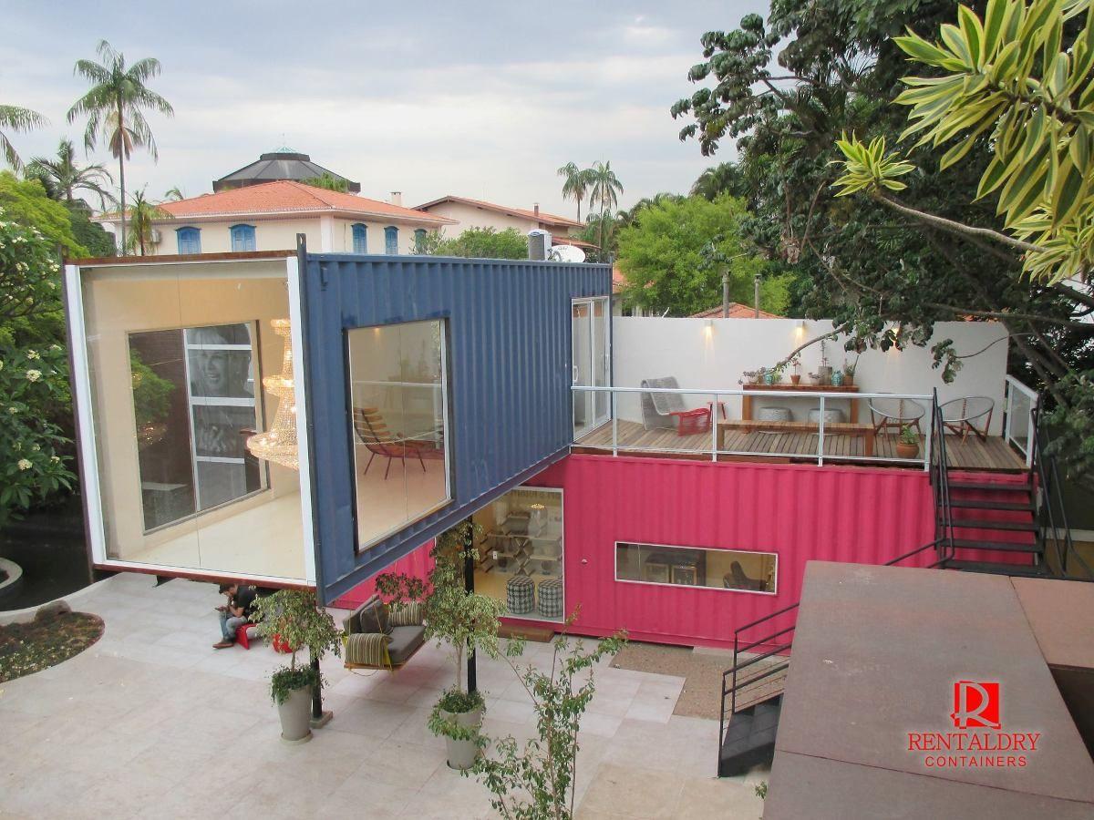 Casa Container 60 Metros Quadrados (containers Marítimos) - R ...