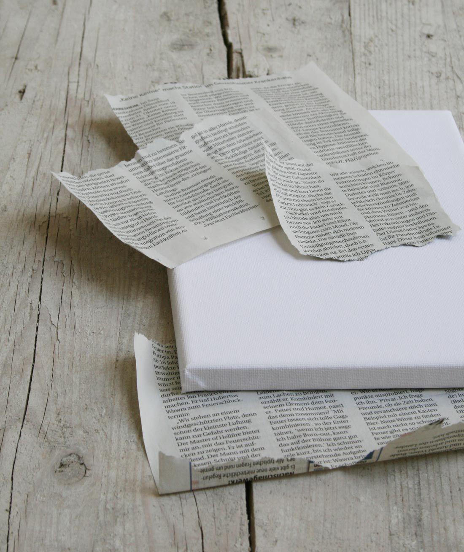Zeitungspapier Zerreissen Leinwand Selber Gestalten Leinwand Gestalten Bilder Selbst Gestalten