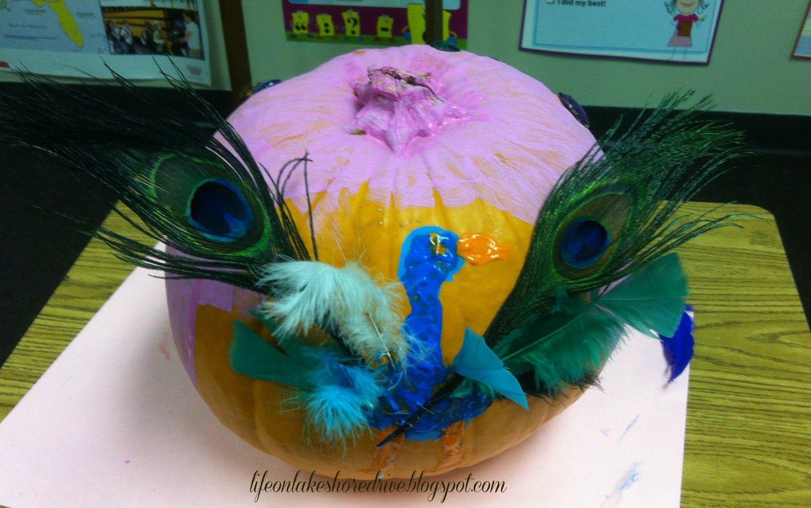 No carve pumpkin ideas peacock pumpkins pumpkin