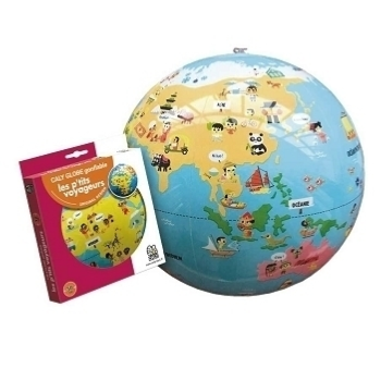 Bass et bass Little Travelers Inflatable Globe Educational Game - Trouva