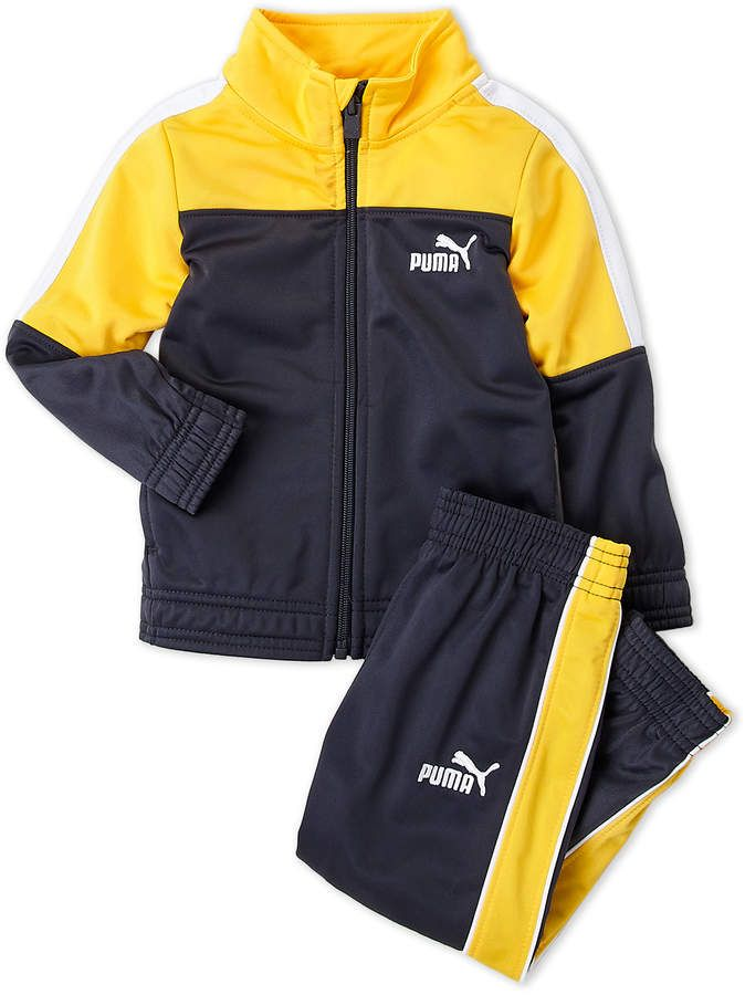 c7f1aaf27579 Puma (Toddler Boys) Two-Piece Mock Neck Track Jacket & Jogger Pants ...