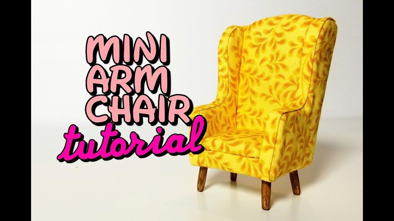 Decorative Tiny Upholstered Chair Dollhouse Furniture Miniature Chair