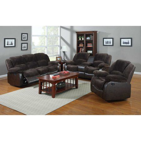 NH Designs 71004 Champion and Faux Leather Sofa Recliner and