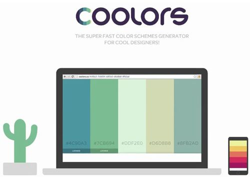 coolors - 빠른 컬러 스키마 생성기(Web Base)