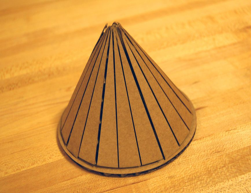 Curving Cardboard Cone