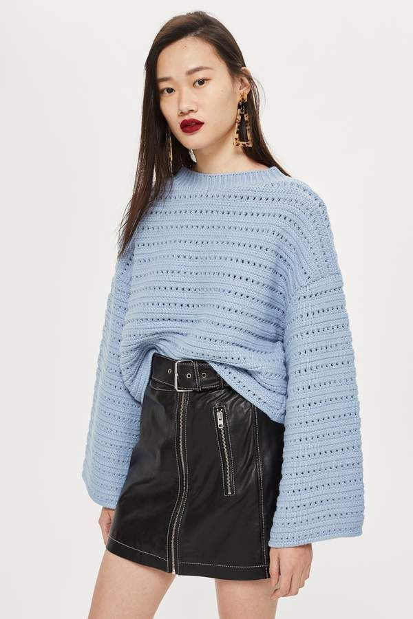 Cropped Wide Sleeve Jumper Cropped Wide Sleeve Jumper